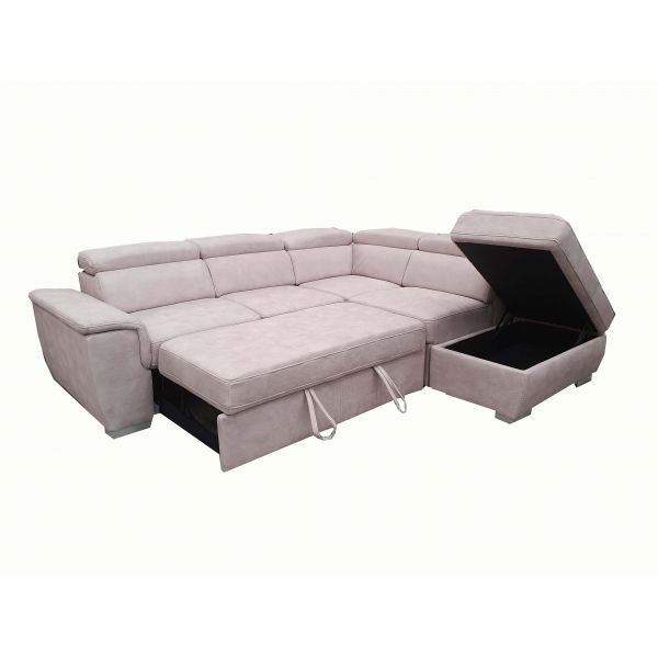 premium selection b5113 8c2fc Capri Corner Lounge with sofabed and Storage Ottoman