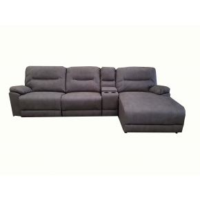 Aveley 2 Seater Plus Chaise Reclining Lounge