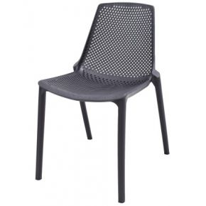 Cafe Resin Stackable Chair Black