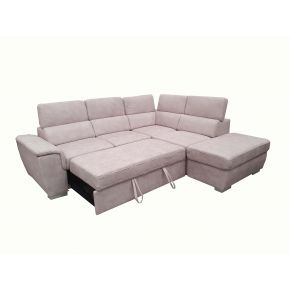 Capri Corner Lounge with sofabed and Storage Ottoman
