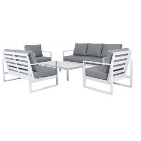 Colada 5 Piece Outdoor Lounge Set white