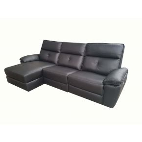 Dante 2 Seater Plus chaise Leather Lounge