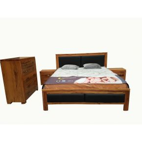 Florida 4 Piece Marri Timber King Bedroom Set