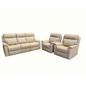 Gardenia 3 Piece Genuine Leather Lounge Set