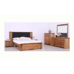 Lisa West Australian Marri Timber 4Pce Queen Bedroom Set