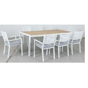 Mayfair 9 Piece Dining Set White