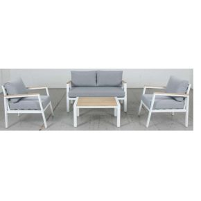 Mayfair 4pce Outdoor Lounge Set White