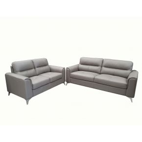 Nico 3+2 Seater Leather Lounge