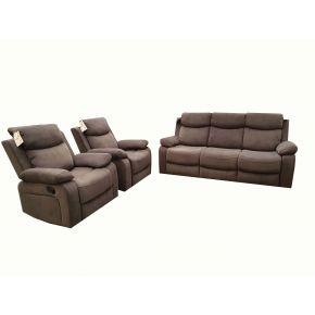 Nikson 3 Pce Fabric Reclining lounge Set