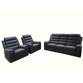 Polar 3 Piece Genuine Leather Lounge Set