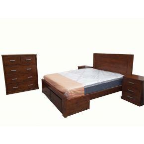 Newzealand Pine 4 Piece Queen Bedroom Set