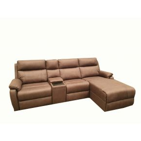 Rhine 2 Seater Plus Chaise Reclining Lounge