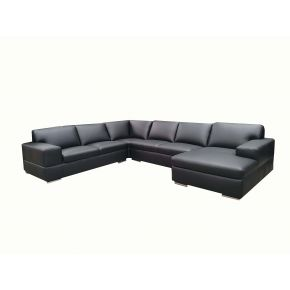 Helena 6 Seater Leather Lounge